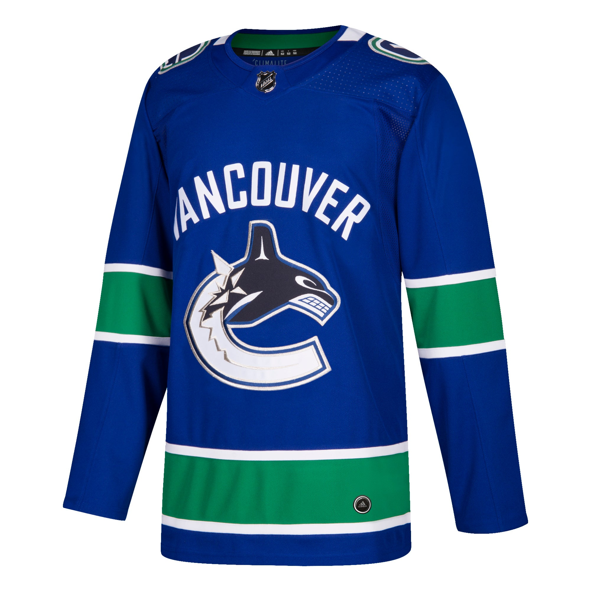 Vancouver Canucks HOME 252J Adidas NHL Authentic Pro Jersey