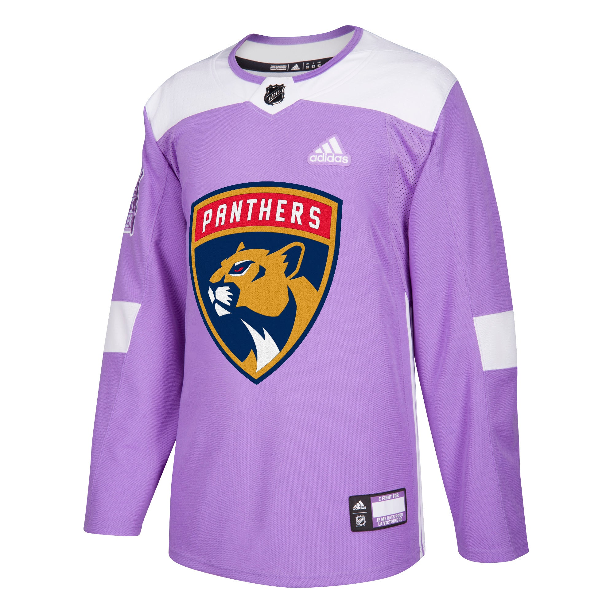 49ad04c62 Hockey Fights Cancer Florida Panthers Purple 255J Adidas NHL Authentic Pro  Jersey
