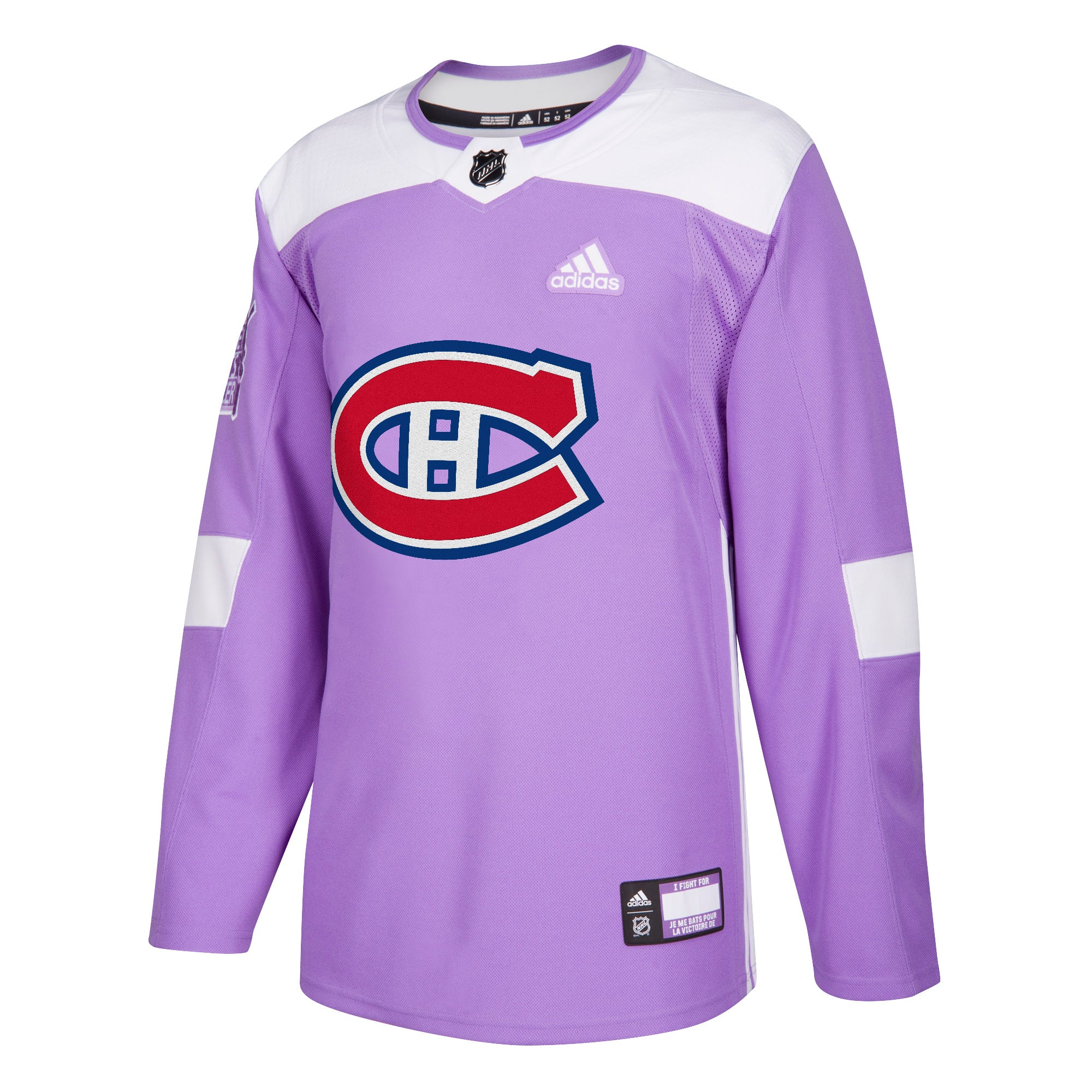 5ef72cda334 ... authentic hockey fights cancer montreal canadiens purple 255j adidas  nhl authentic pro jersey 07508 d271d