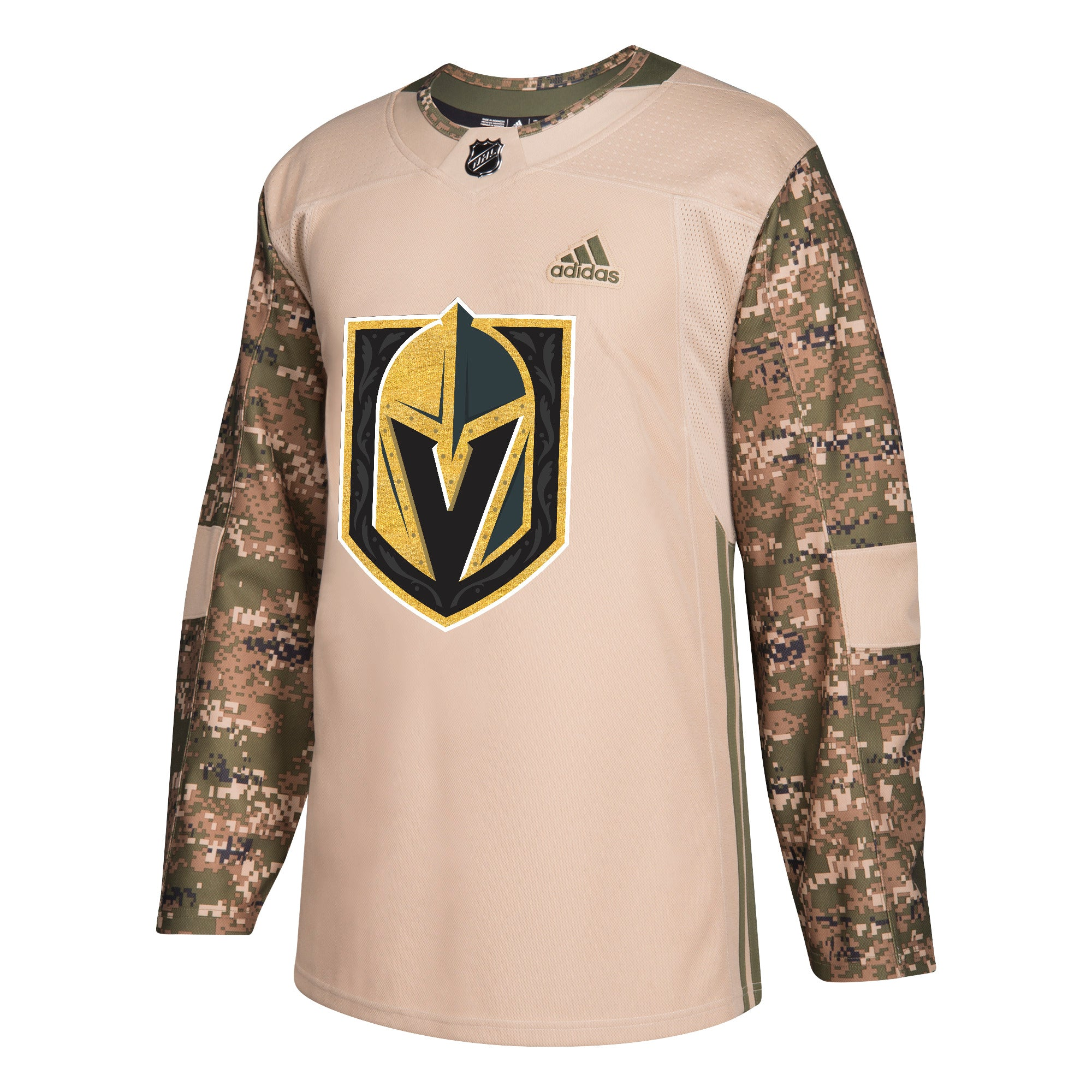 timeless design 5ae2f 95583 Military Camo Khaki Las Vegas Golden Knights 258J Adidas NHL Authentic Pro  Jersey