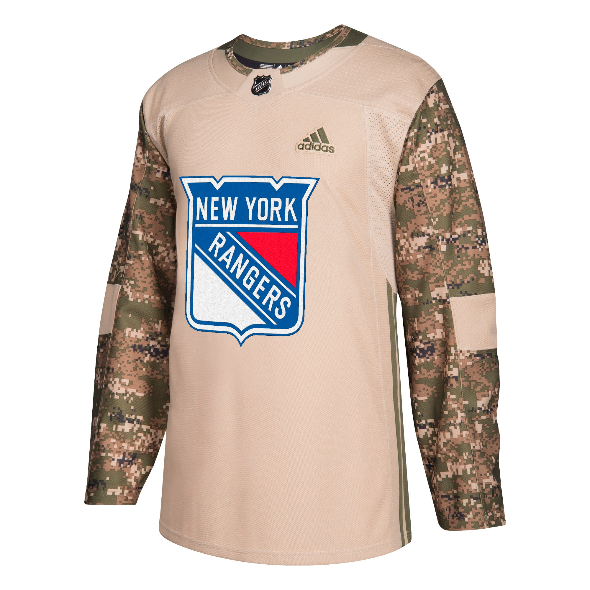 info for 2dd6d db8a4 Military Camo Khaki New York Rangers 258J Adidas NHL Authentic Pro Jersey
