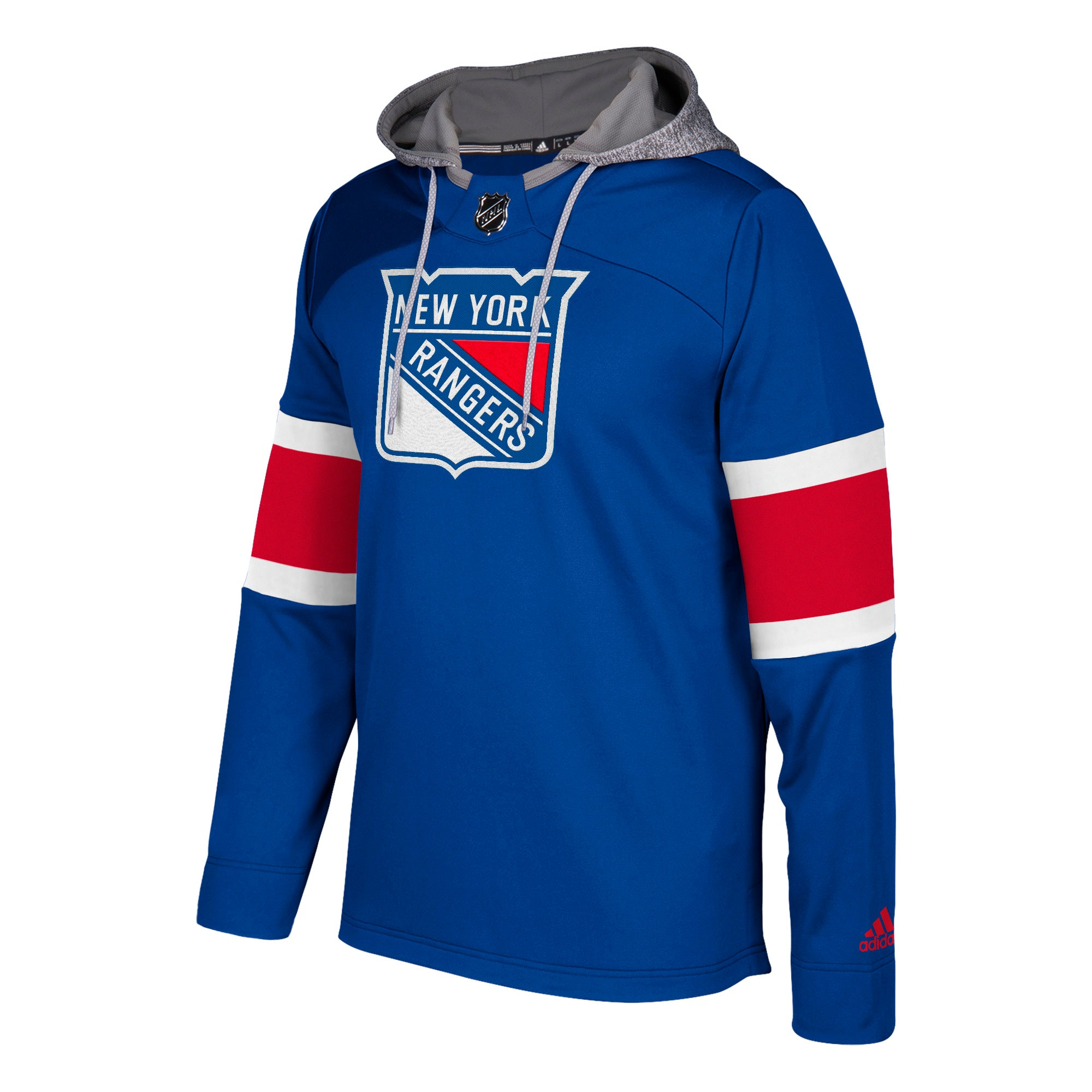 offer discounts best shoes new images of 678F New York Rangers Blue Adidas Platinum Jersey Hood Hoodie