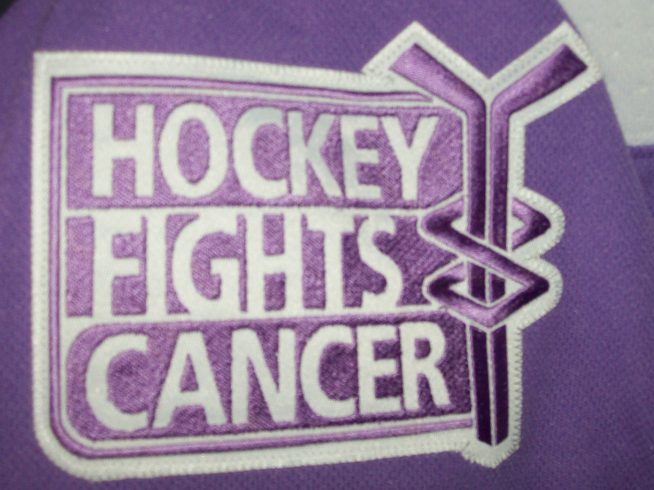 huge selection of 2f902 75eed Hockey Fights Cancer Chicago Blackhawks Purple 255J Adidas NHL Authentic  Pro Jersey