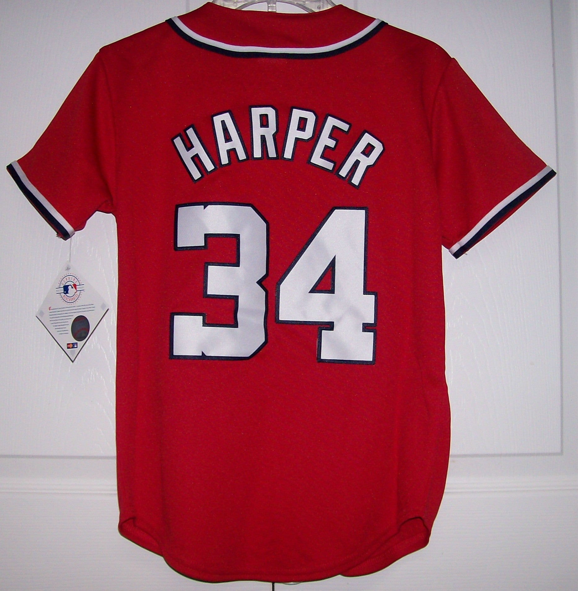 free shipping b1025 c3c95 HARPER Washington Nationals YOUTH Majestic MLB Baseball jersey RED
