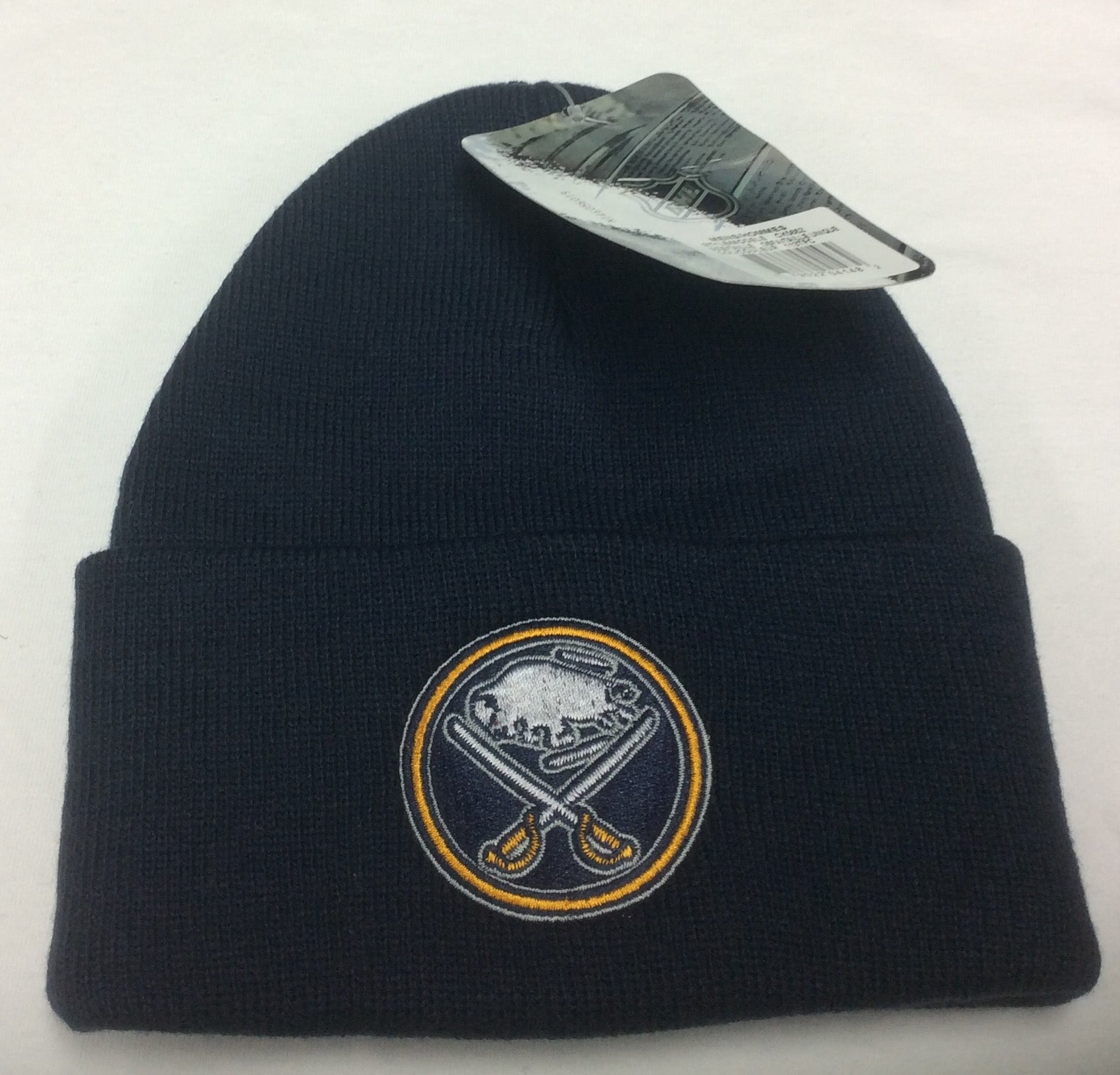 the best attitude 0b3bc 968f9 Buffalo Sabres Navy Reebok NHL Watchman Cuffed Knit Hat.  10.99  16.99. Size