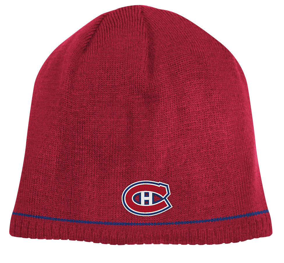 affde6d589f3e0 Montreal Canadiens Red/Navy Reebok NHL Reversible 760 Knit Hat ...