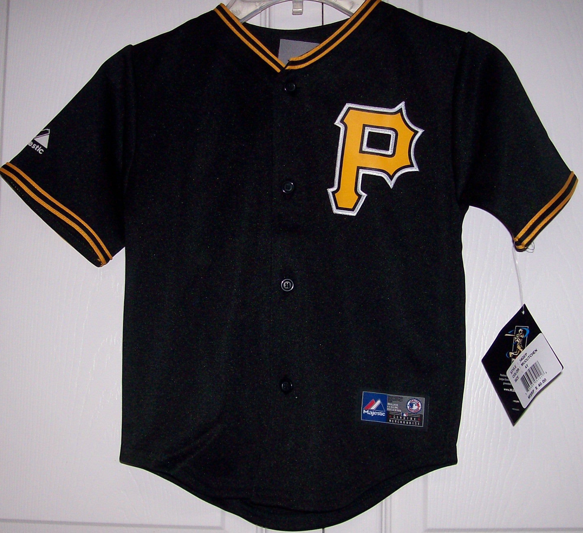 pretty nice 8d78f 49245 McCutchen Pittsburgh Pirates YOUTH Majestic MLB Baseball jersey BLACK