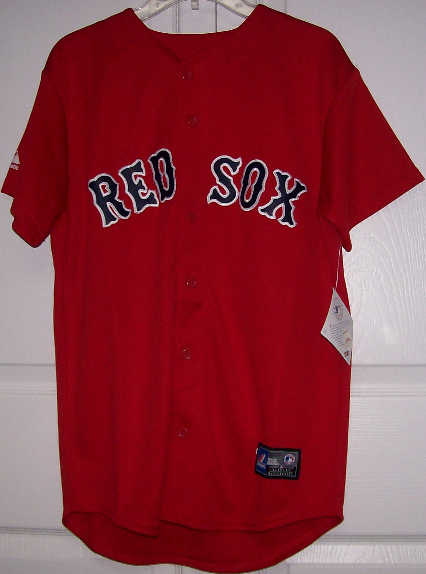 competitive price 3db31 7ff80 PEDROIA Boston Red Sox YOUTH Majestic MLB Baseball jersey Red