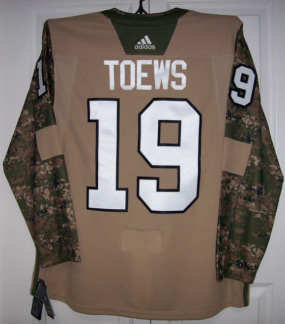 f0b5b2235 TOEWS Military Camo Khaki Chicago Blackhawks 258J Adidas NHL Authentic Pro  Jersey
