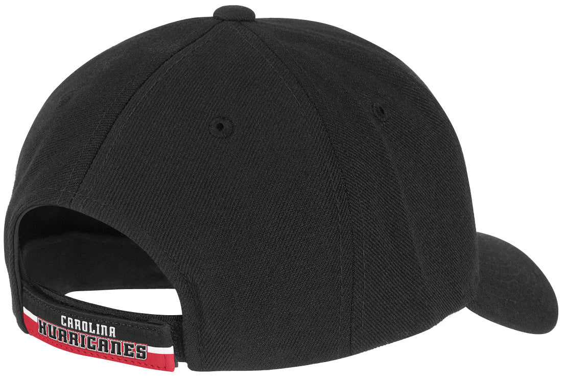 e6b95253e02 Carolina Hurricanes Reebok NHL Solid Black 683 Baseball Hat - Hockey ...