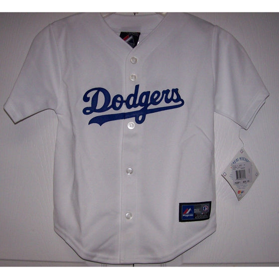 Los Angeles Dodgers BOYS Majestic MLB Baseball jersey HOME White 50ca590c10a