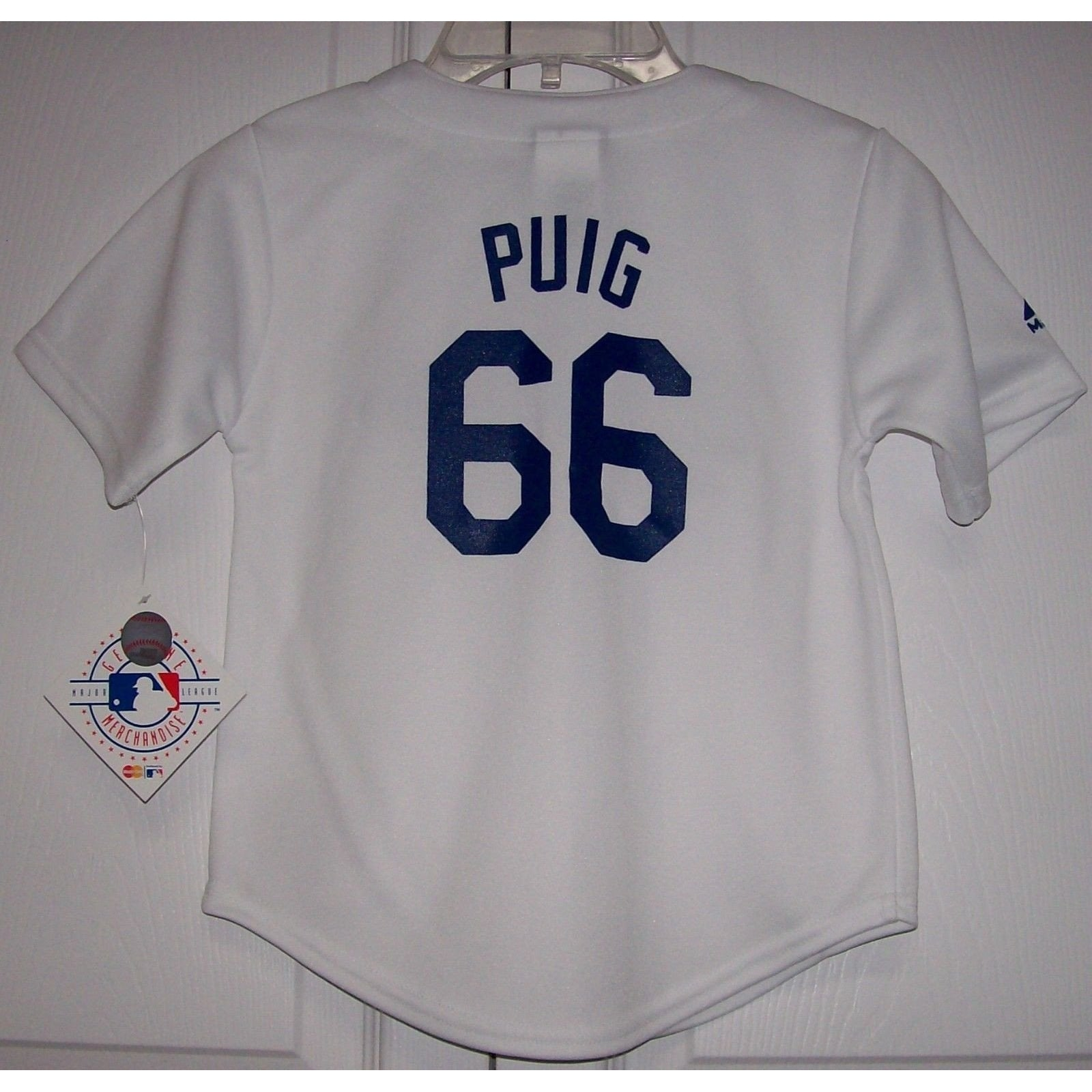 PUIG Los Angeles Dodgers TODDLER Majestic MLB Baseball jersey White ... bee152c6533