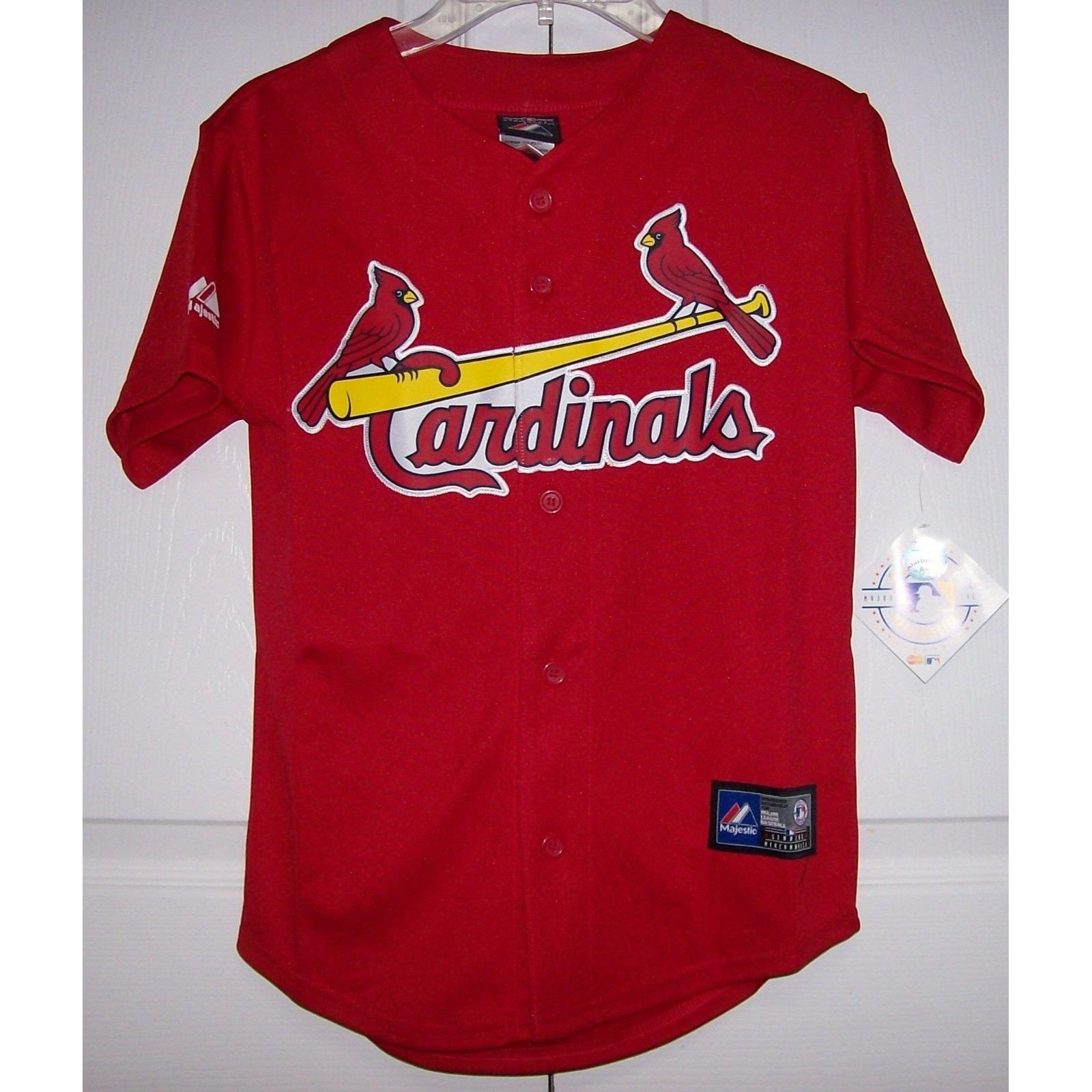 88d85d7ebec St Louis Cardinals Youth Majestic MLB Baseball jersey Alternate RED ...