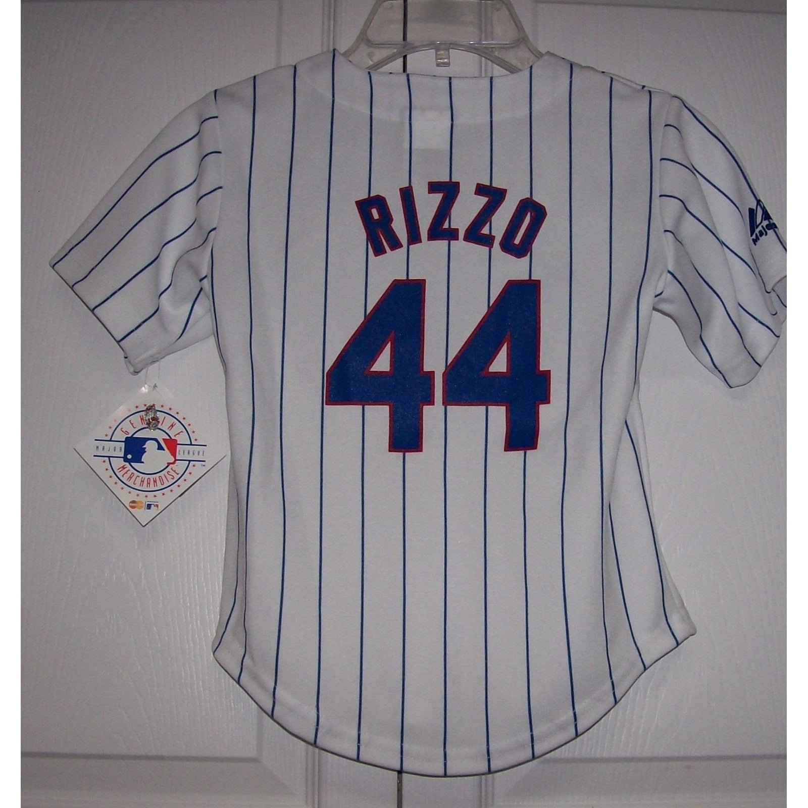 fe261eac2 RIZZO Chicago Cubs BOYS Majestic MLB Baseball jersey HOME White ...