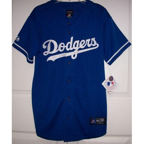 reputable site 57cdf cd306 Los Angeles Dodgers YOUTH Majestic MLB Baseball jersey BLUE