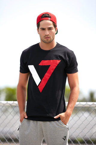 V7 Logo T-shirt-Black