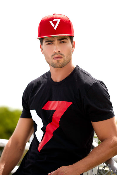 V7 LOGO HAT-RED