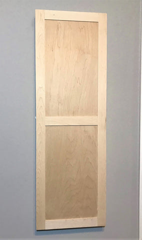 NOW AVAILABLE! Un-Finished Maple Shaker Door In-Wall Ironing Board