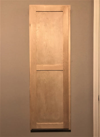 Unfinished Hinged Birch Shaker Door In-Wall Unit