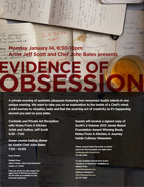 EVIDENCE OF OBSESSION: A Special Event At Flatbed