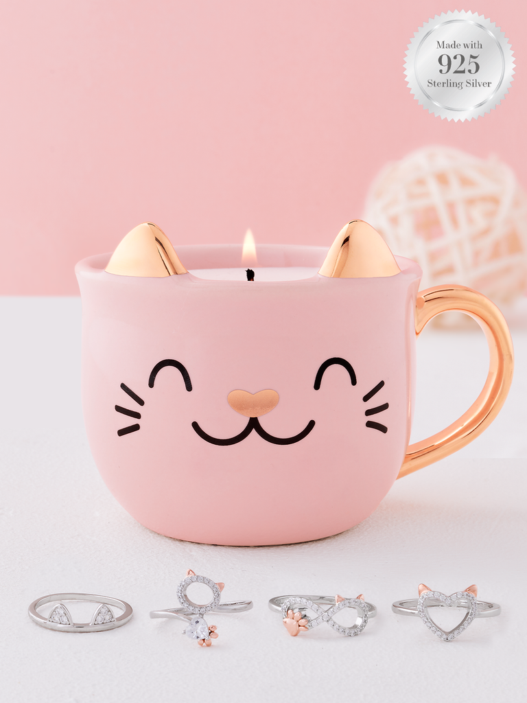 Meow! Cat Candle - 925 Sterling Silver Cat Ring Collection