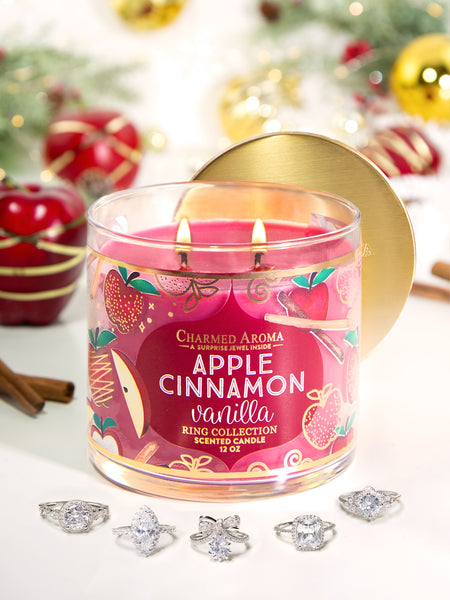 Apple Cinnamon Vanilla Candle - Classic Ring Collection