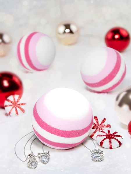 Candy Cane Bath Bomb - Classic Necklace Collection