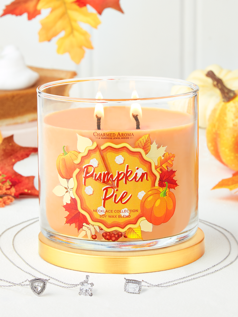 Pumpkin Pie Candle - Necklace Collection