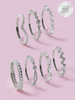 Sweet Dreams Candle - 925 Sterling Silver Stackable Ring Collection