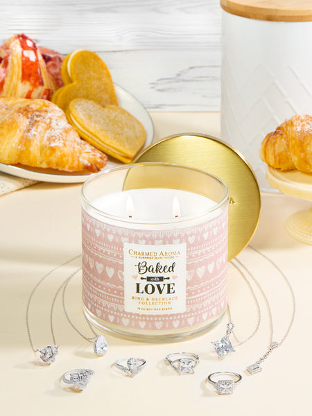 Baked with Love Candle - Ring & Necklace Collection