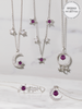 Amethyst Candle - Amethyst Jewelry Collection Made with Crystals From Swarovski®