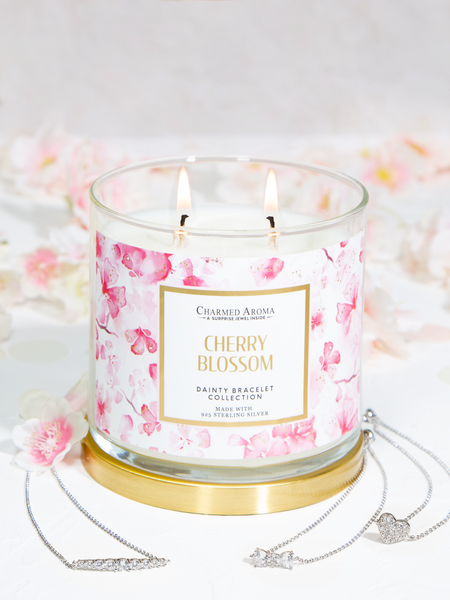 Cherry Blossom Candle - Dainty Bracelet Collection