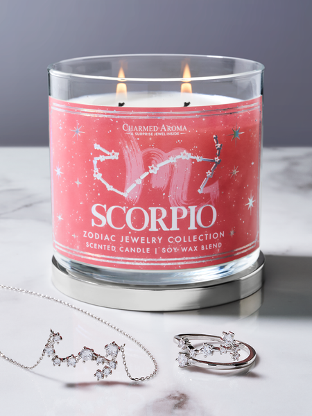 Scorpio Zodiac Candle - Scorpio Jewelry Collection