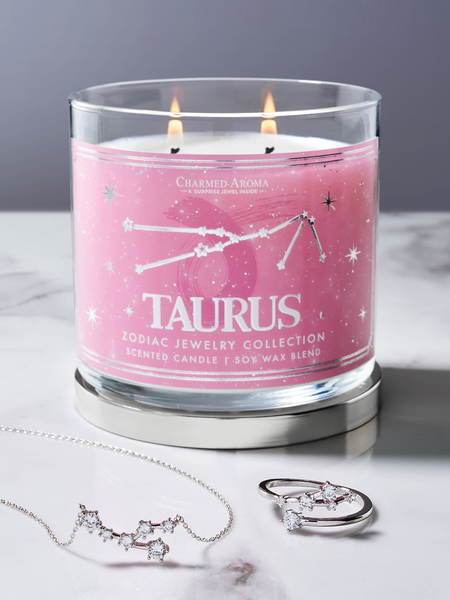 Taurus Zodiac Candle - Taurus Jewelry Collection