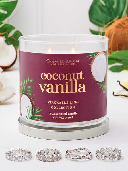 Coconut Vanilla Candle - Stackable Ring Collection
