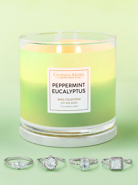 Peppermint Eucalyptus Candle - Ring Collection
