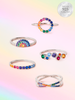 Rainbow Candle - 925 Sterling Silver Rainbow Ring Collection