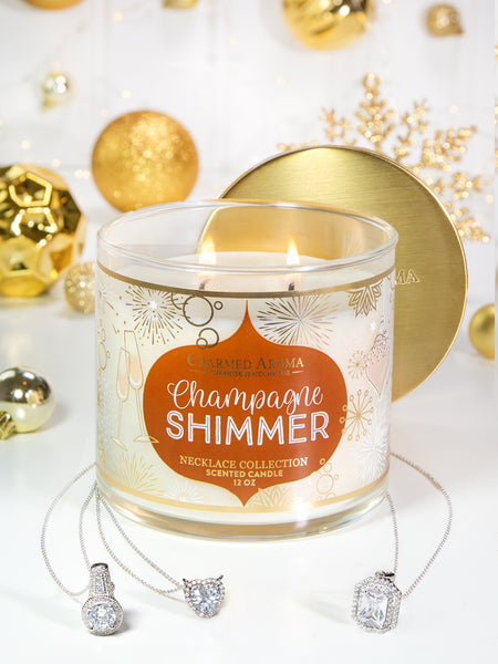 Champagne Shimmer Candle - Classic Necklace Collection