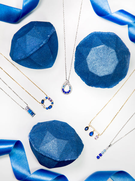 Sapphire Birthstone Bath Bomb - Sapphire Necklace Collection
