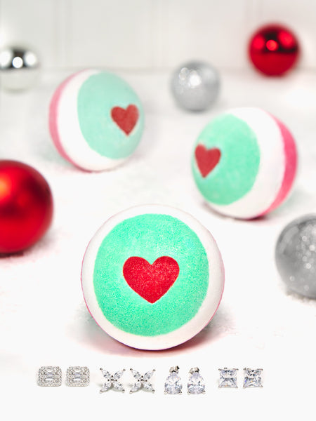 Naughty or Nice Bath Bomb - Classic Earring Collection