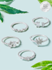 Hemp Candle - 925 Sterling Silver Dainty Ring Collection