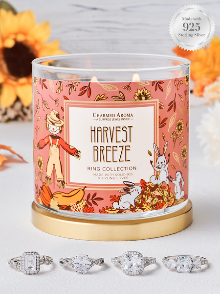 Harvest Breeze Candle - 925 Sterling Silver Classic Ring Collection