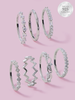 Happiness Candle - 925 Sterling Silver Stackable Ring Collection