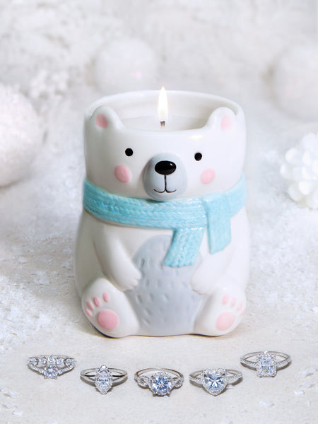 Polar Bear Candle - Classic Ring Collection
