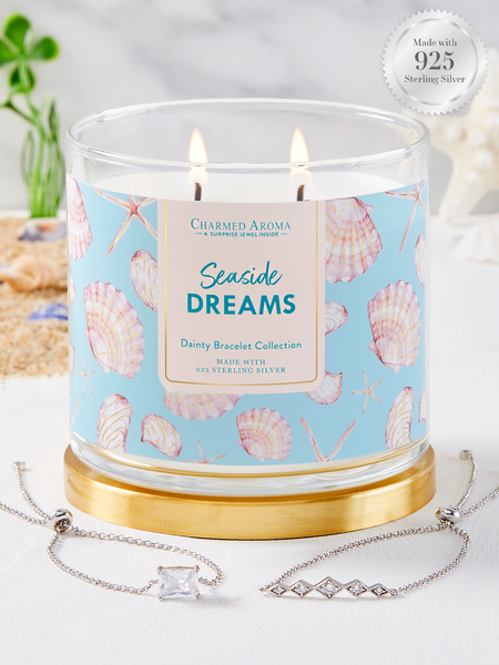 Seaside Dreams Candle - 925 Sterling Silver Dainty Bracelet Collection