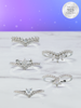Wish Upon a Star Candle - 925 Sterling Silver Wishbone Ring Collection