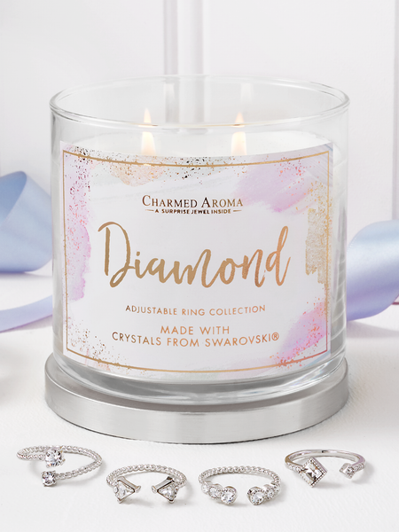 Diamond Birthstone Candle - Ring Collection Made With Crystals From Swarovski®