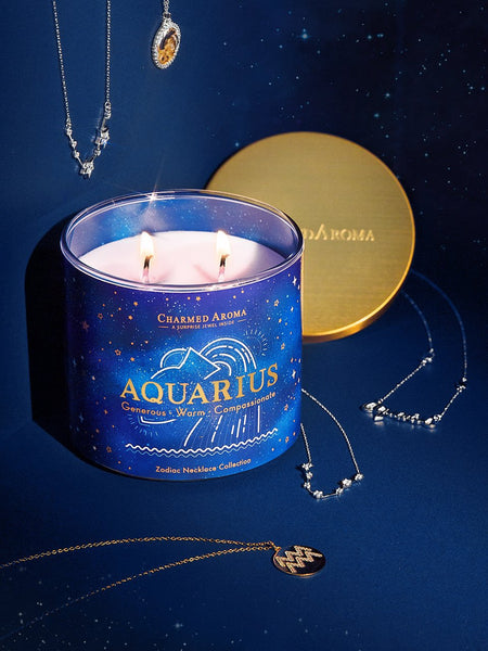 Aquarius Candle - Zodiac Necklace Collection