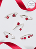 Ruby Birthstone Set - Ring & Necklace Made With Crystals from Swarovski®