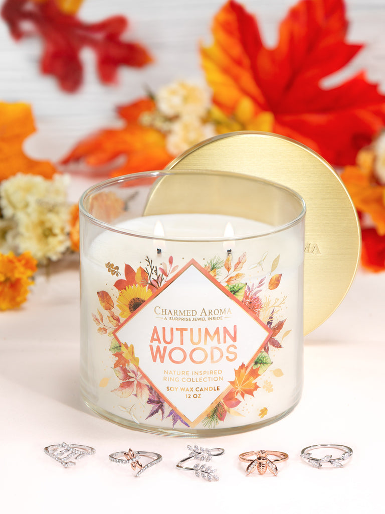 Autumn Woods Candle - Nature Ring Collection